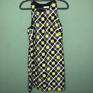 NWT Milly Geometric Floral Shift Dress Size 0